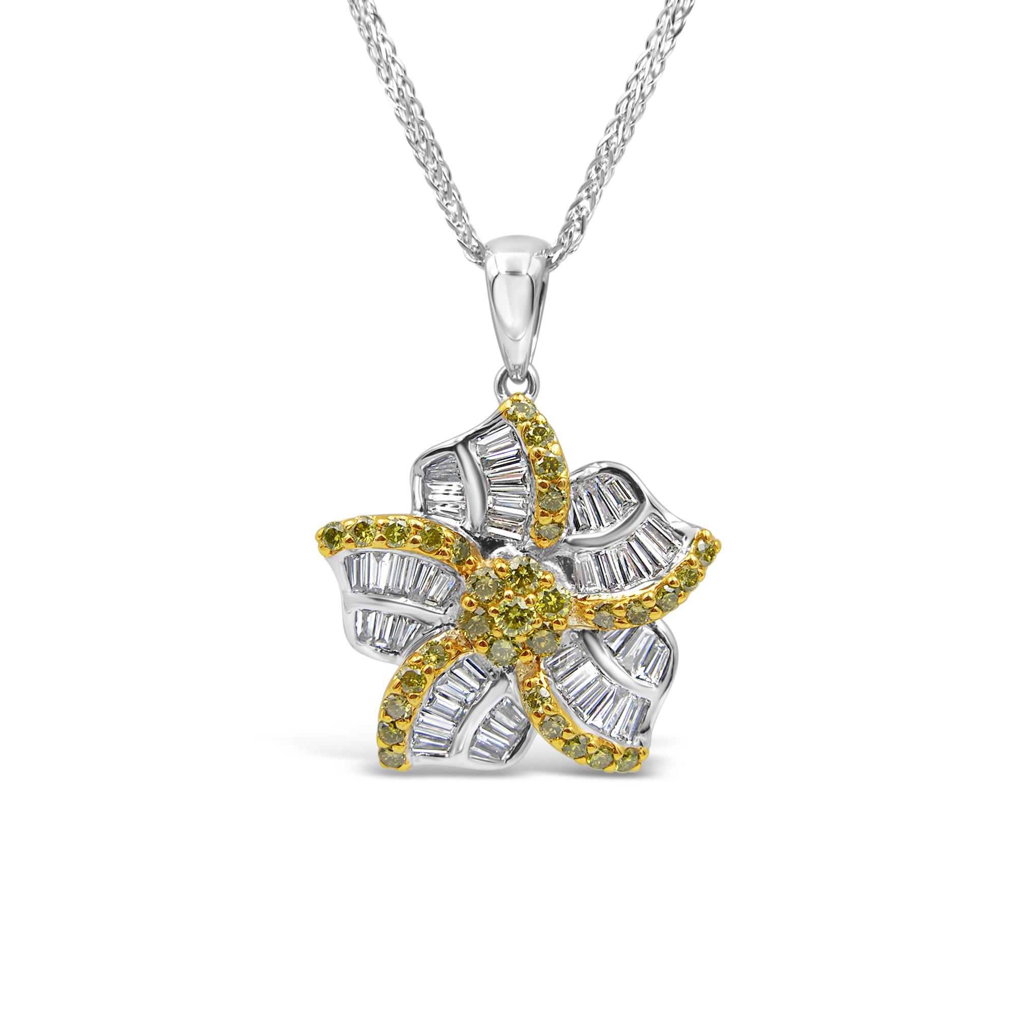 18k white gold pendant with 1.50 ct diamonds