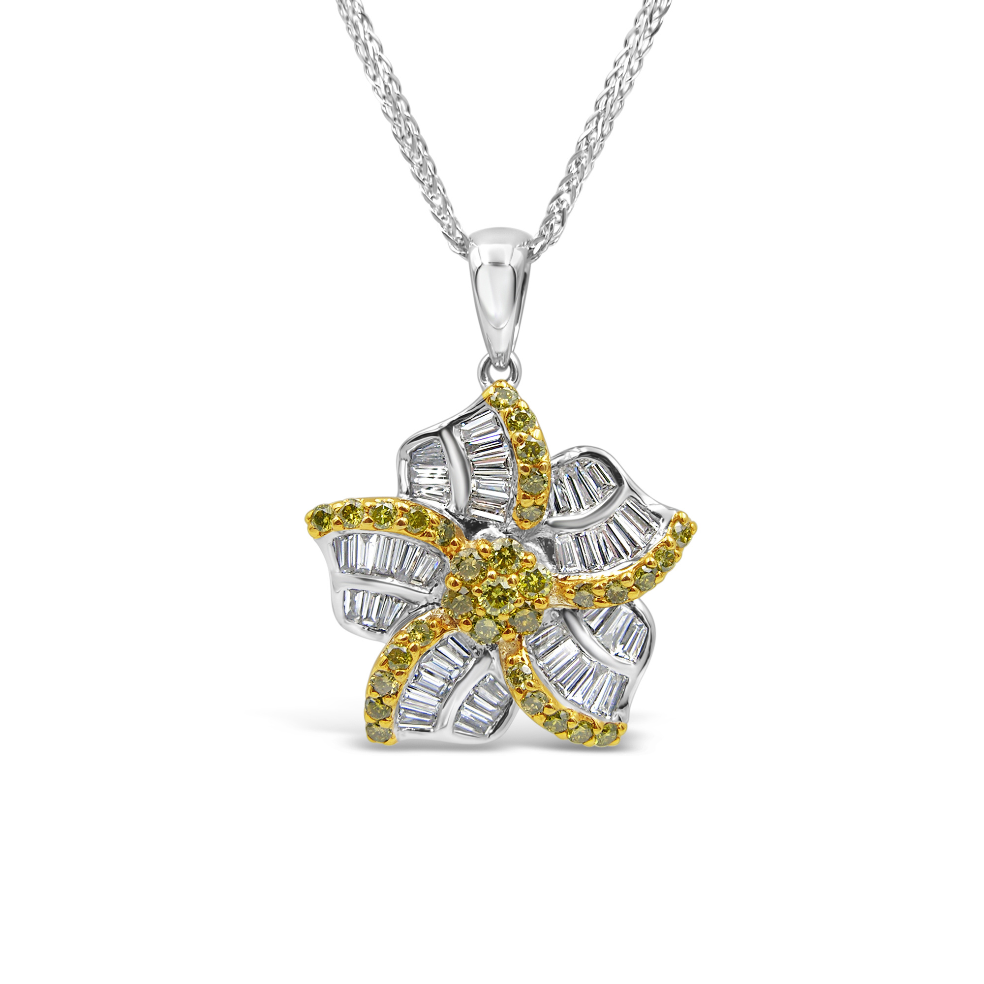 18k witl goud hanger met 1.50 ct diamanten