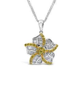 18k wit goud hanger met 1.50 ct diamanten