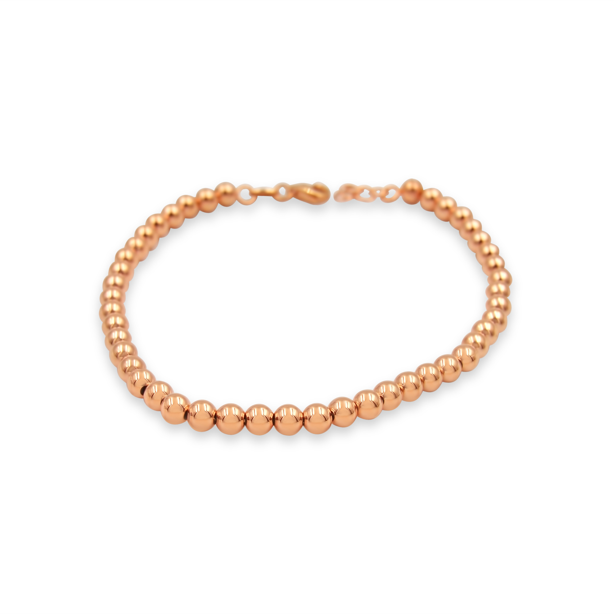 18 kt rose gold balls bracelet unisex