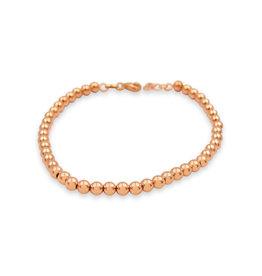 18 kt roze goud bollejes armband unisex