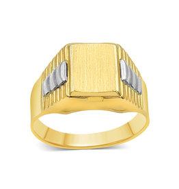 18 kt yellow & white gold men's ring