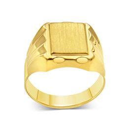 18 kt yellow gold men's ring