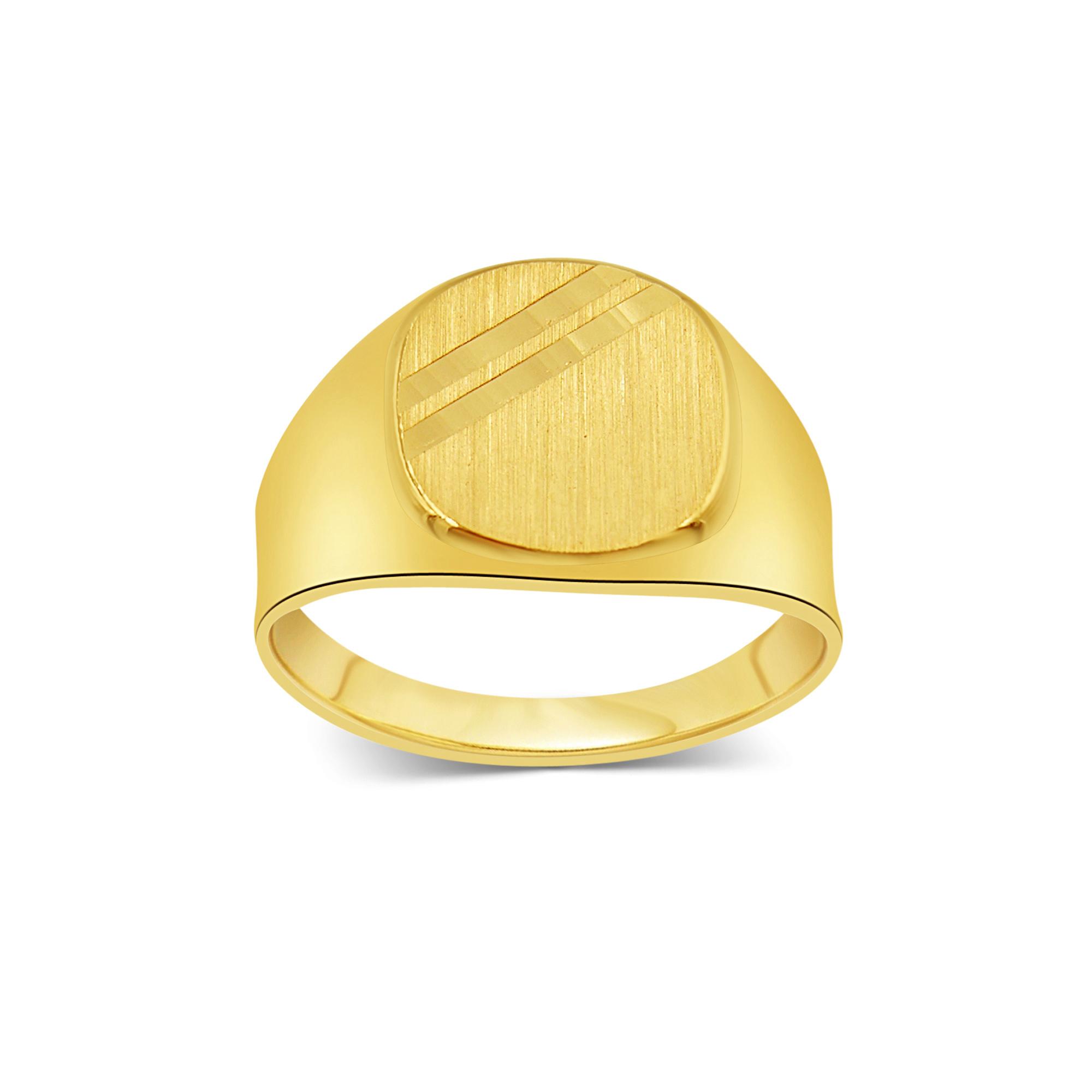 18 kt geel goud heren ring