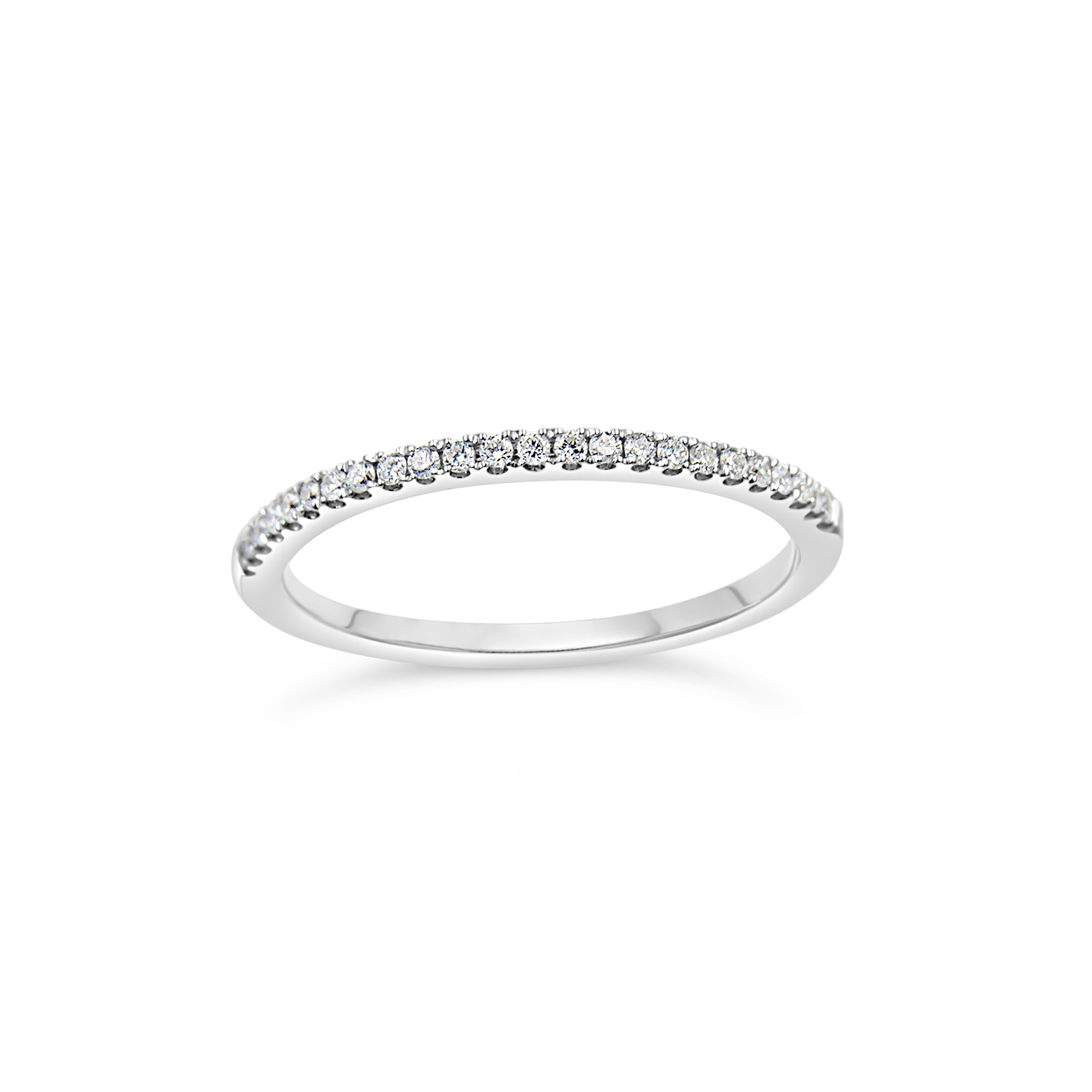 18k white gold ring with 0.13 ct diamonds
