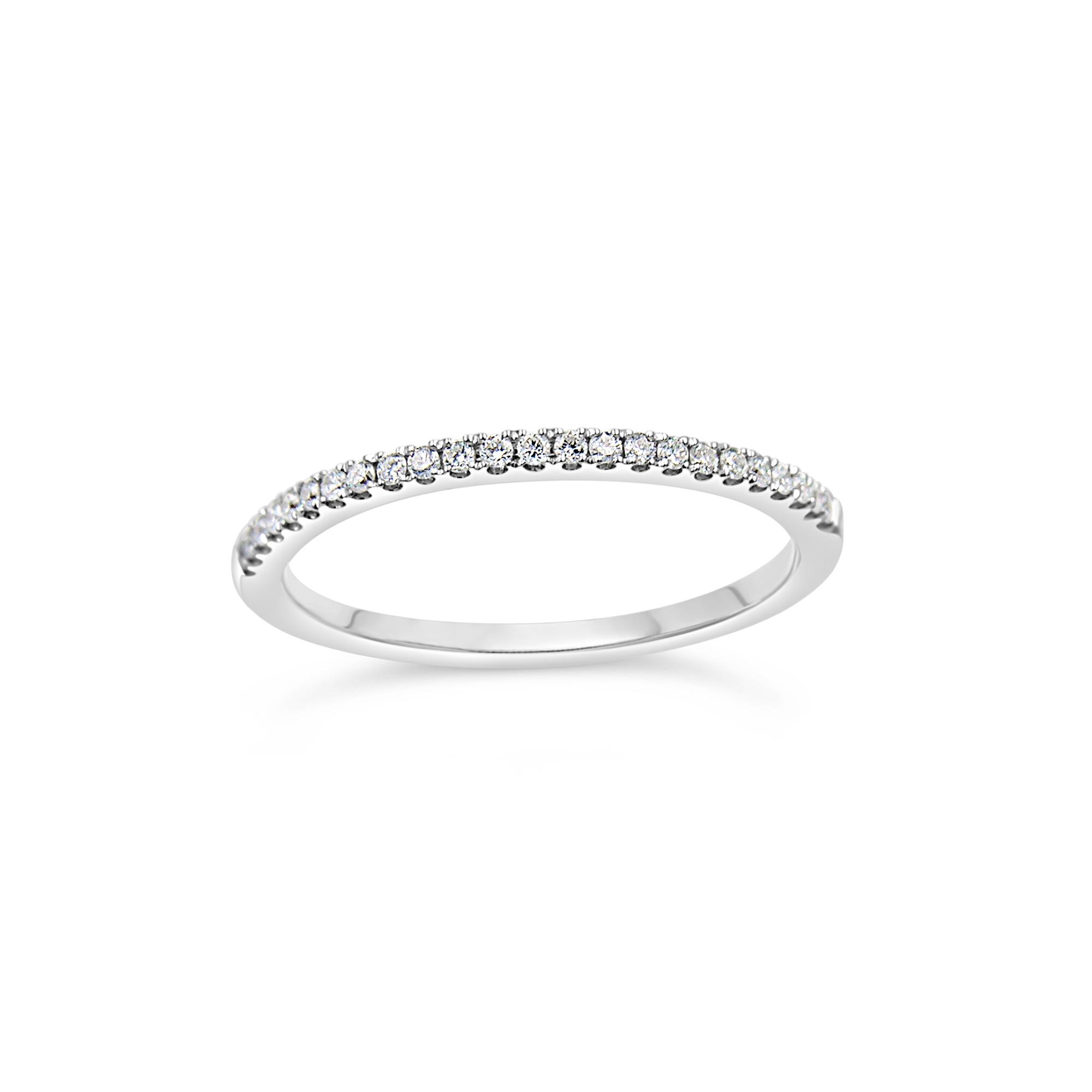 18k wit goud ring met 0.13 ct diamanten