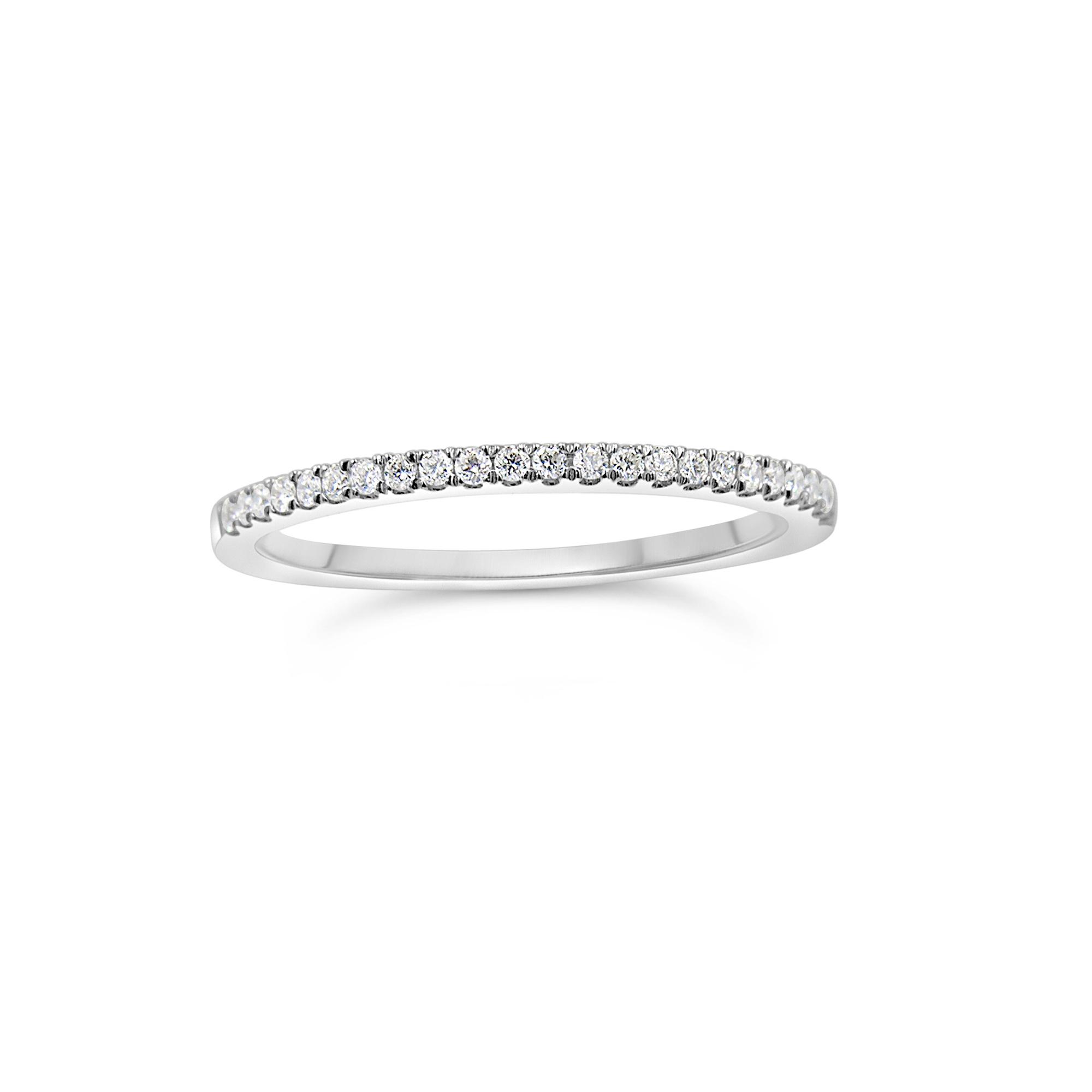 18k wit goud ring met 0.15 ct diamanten
