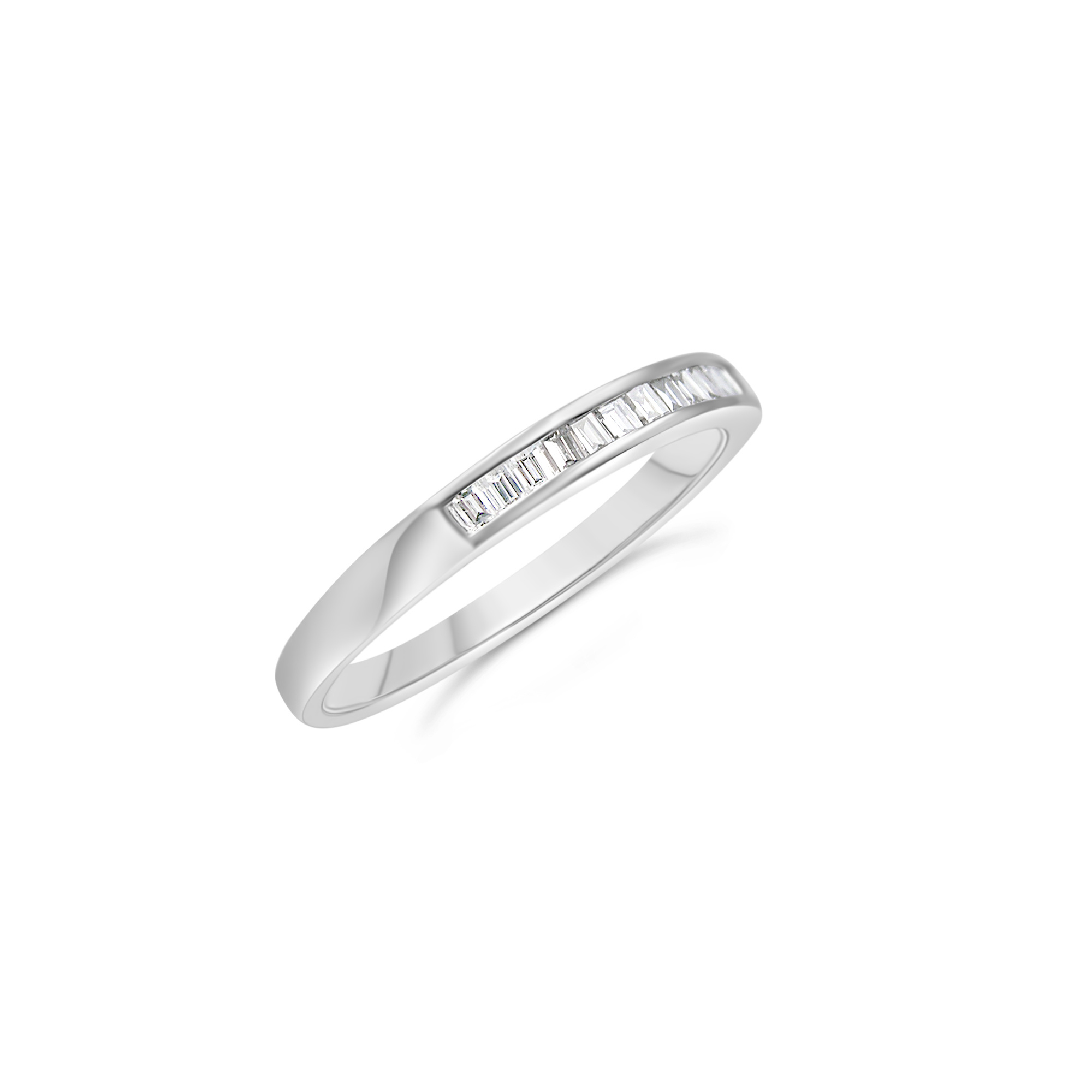 18k white gold ring with 0.20 ct diamonds