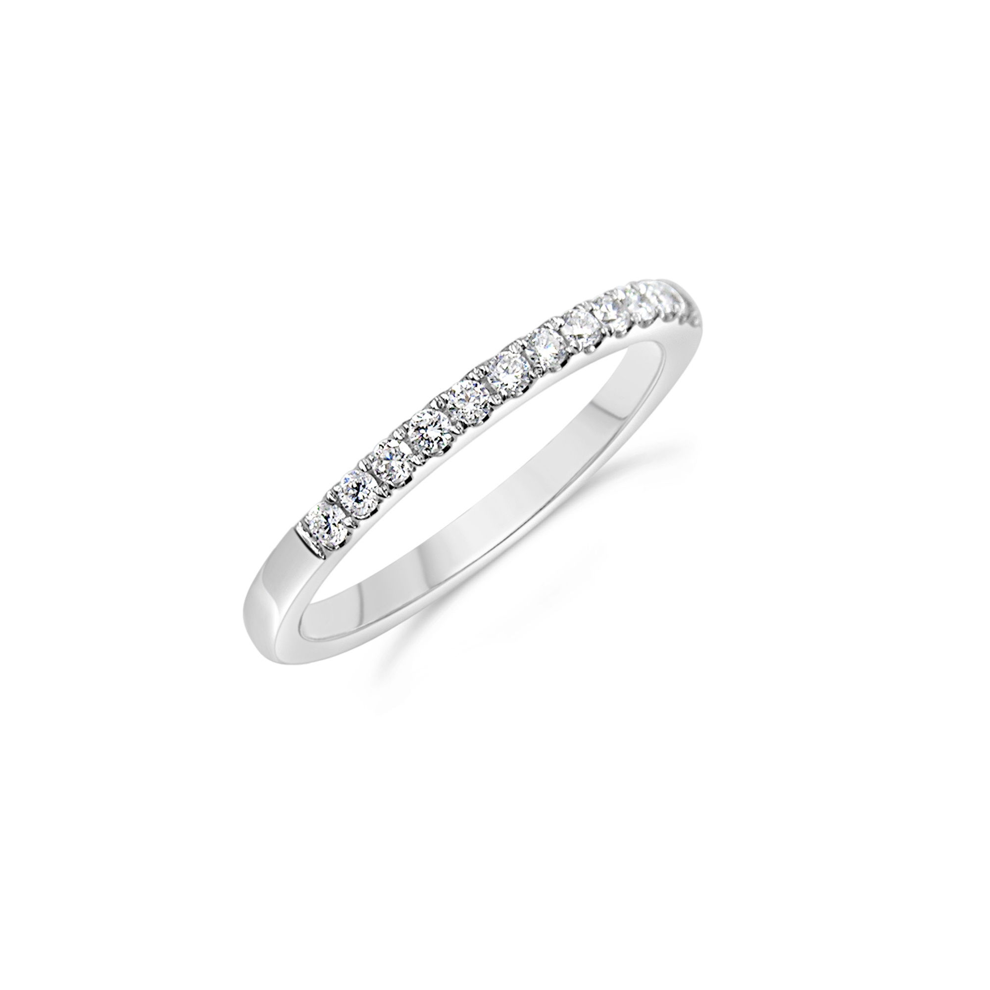 18k white gold ring with 0.34 ct diamonds
