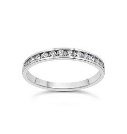 18k wit goud ring met 0.25 ct diamanten