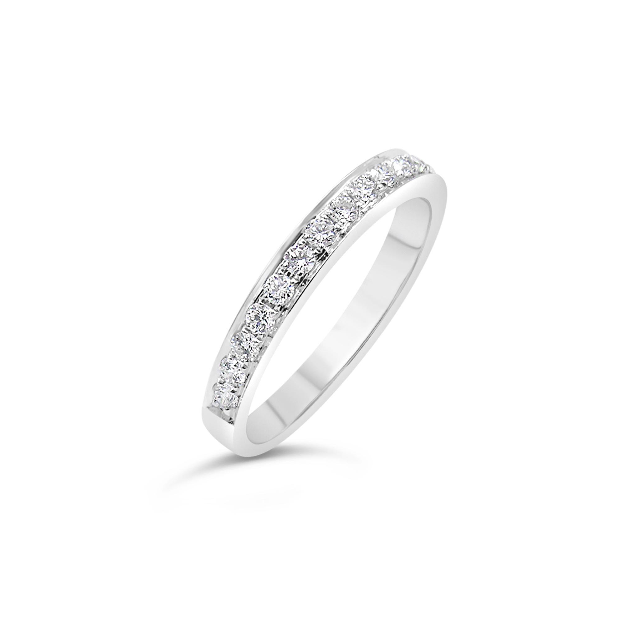 18k wit goud ring met 0.30 ct diamanten