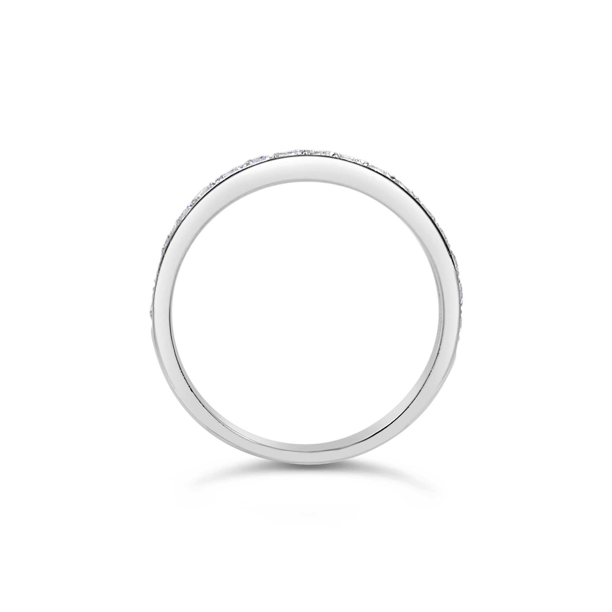 18k white gold ring with 0.30 ct diamonds