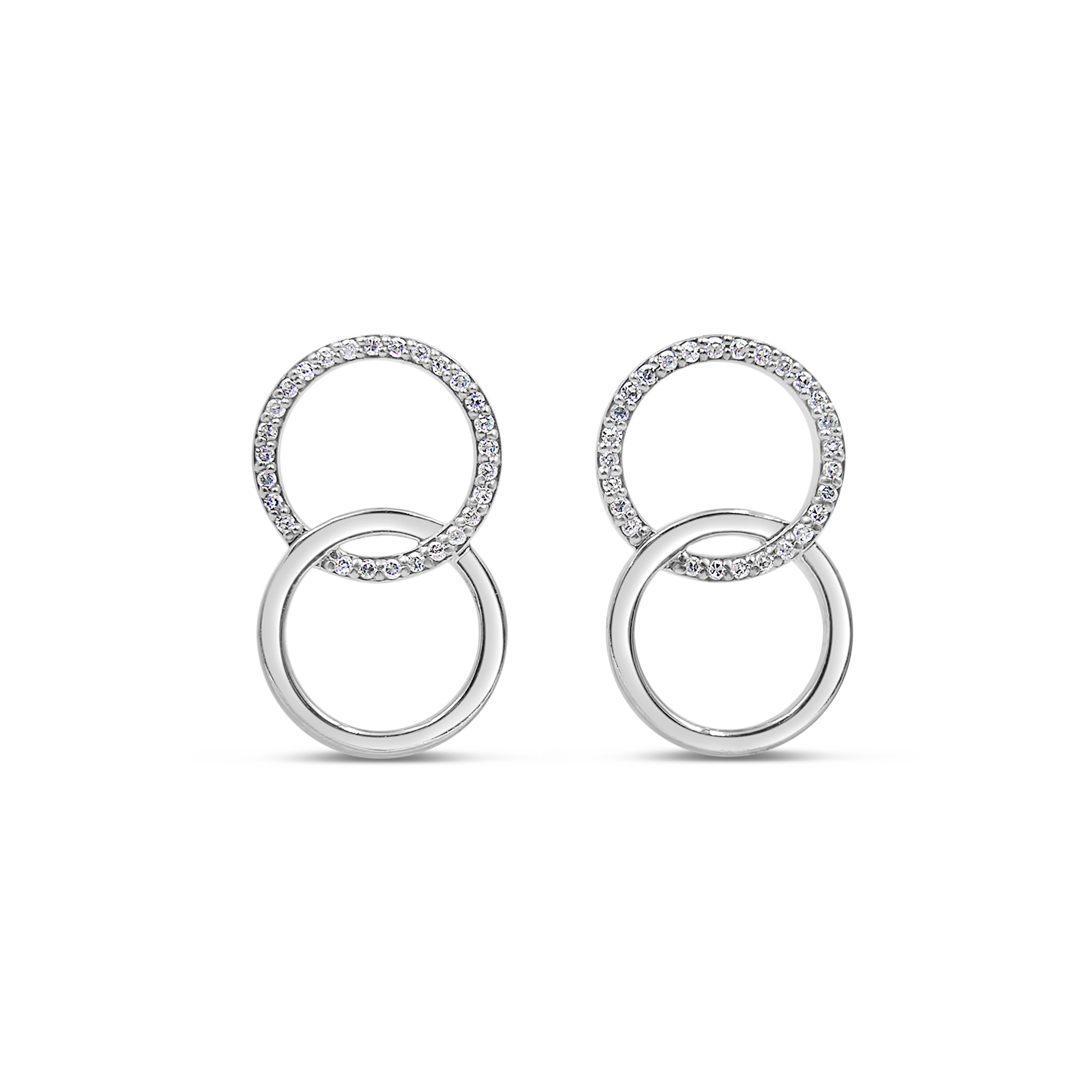 18 kt white gold earrings with 0.27 ct diamonds