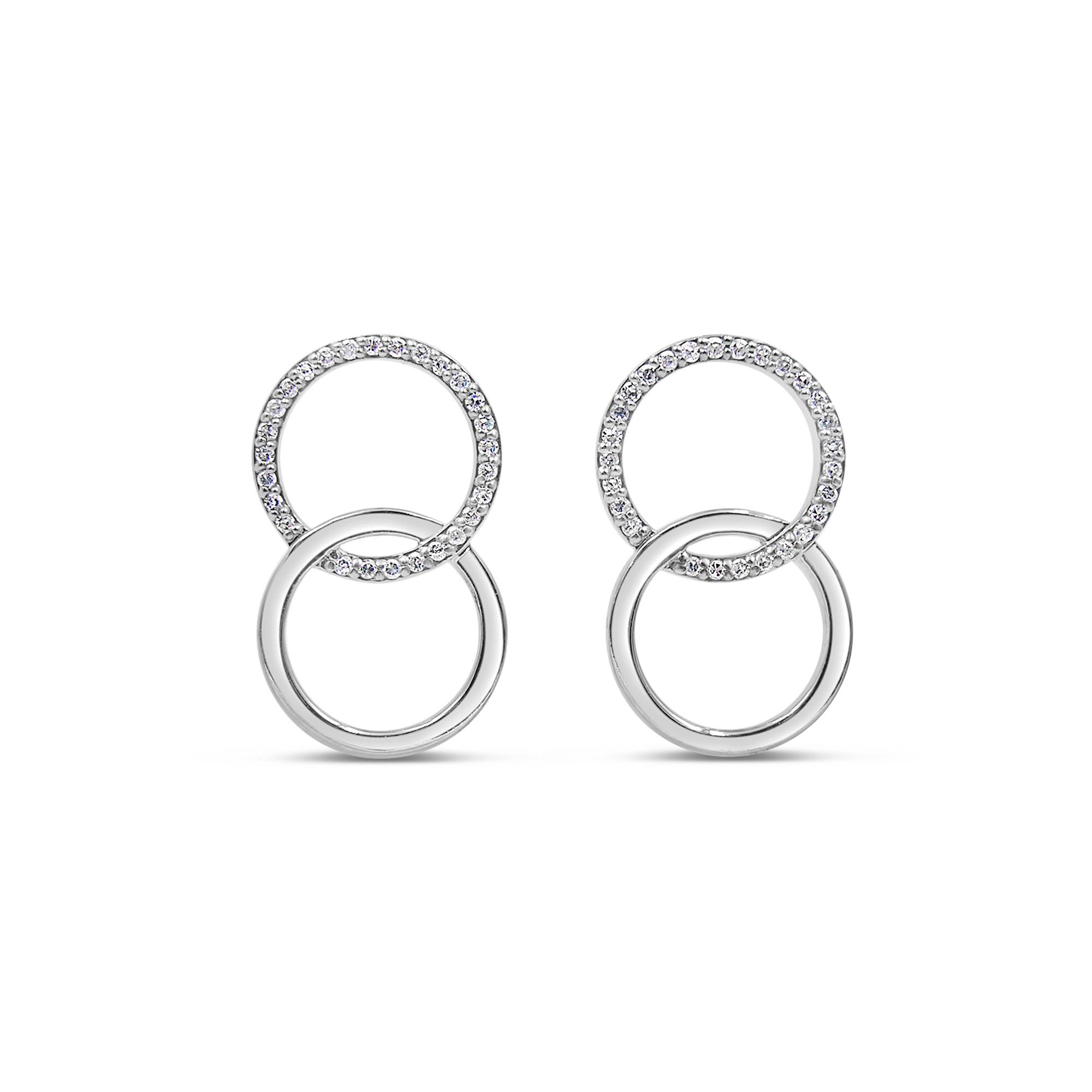 18 kt wit goud oorbellen met 0.27 ct diamanten