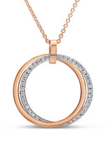 18kt white & rose gold pendant with 0.46 ct diamonds
