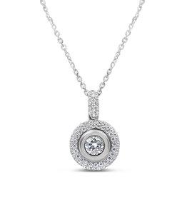 18kt wit goud hanger met 0.85 ct diamanten