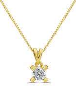 18kt geel goud hanger met 0.47 ct diamant