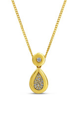 18kt yellow gold pendant with 0.05 ct diamonds