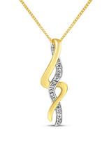 18kt geel & wit goud hanger met 0.04 ct diamanten