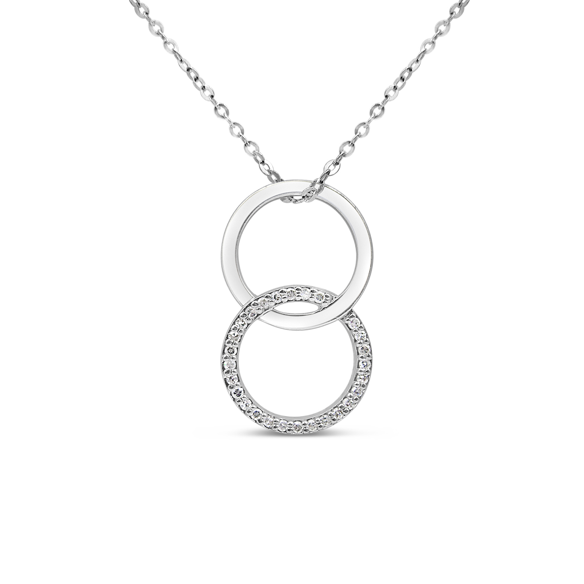 18kt white gold pendant with 0.13 ct diamonds