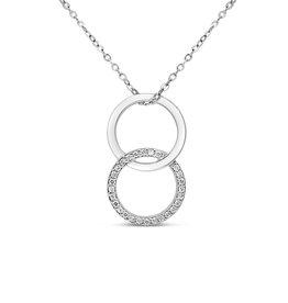 18kt wit goud hanger met 0.13 ct diamanten