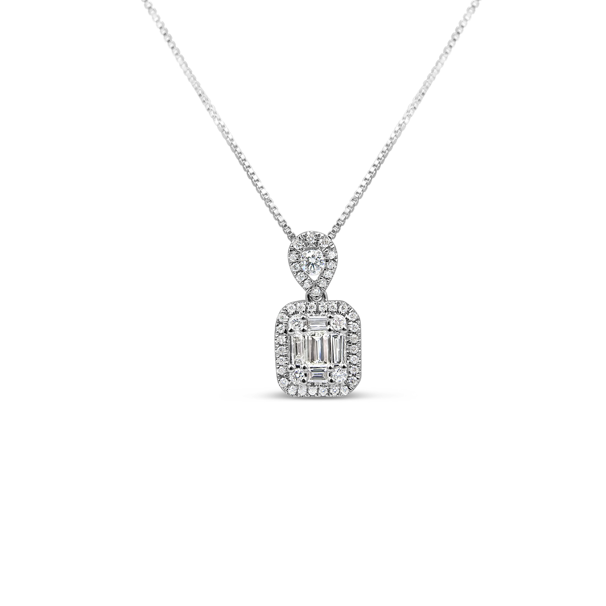 18kt wit goud hanger met 0.29 ct diamanten