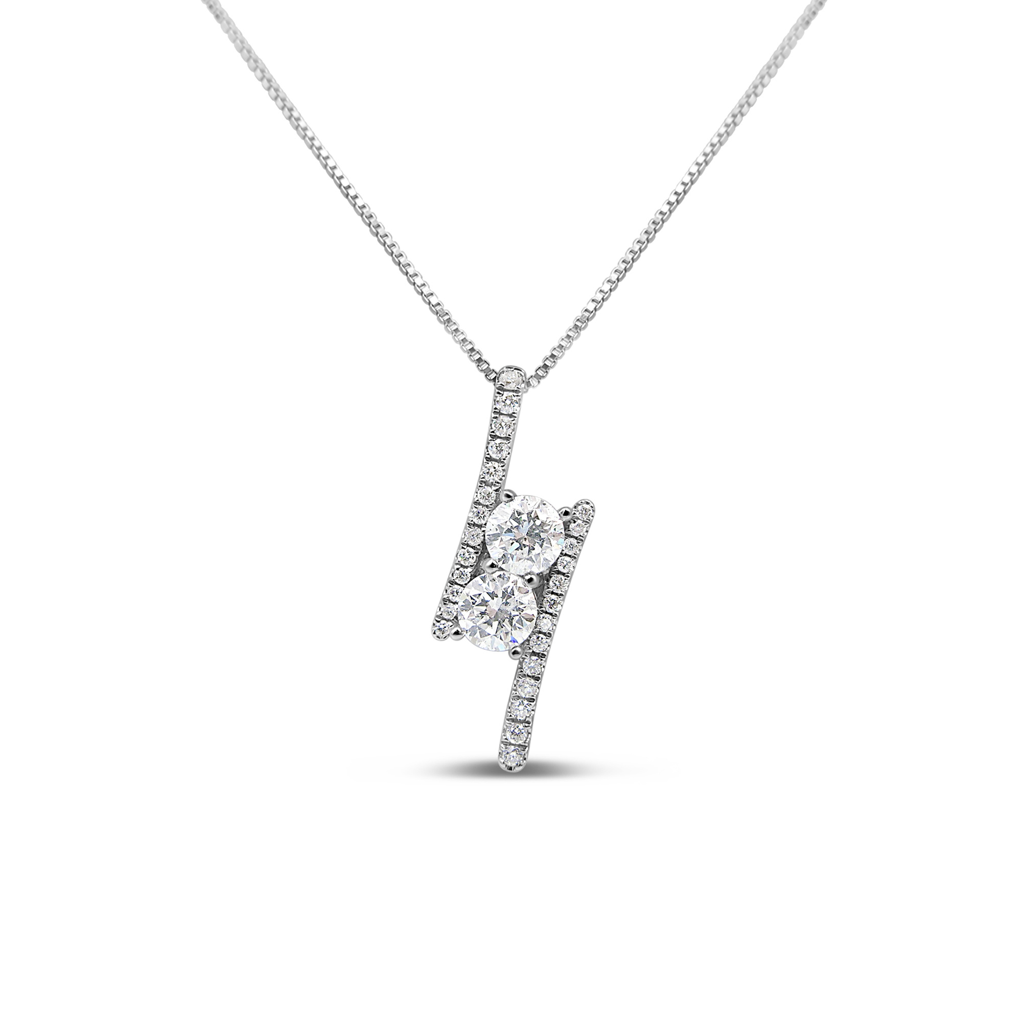 18kt white gold pendant with 0.60 ct diamonds