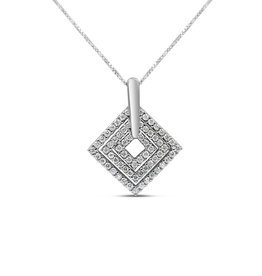 18kt white gold pendant with 0.43 ct diamonds