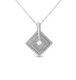18kt wit goud hanger met 0.43 ct diamanten