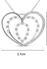 18kt wit goud hart hanger met 0.83 ct diamanten