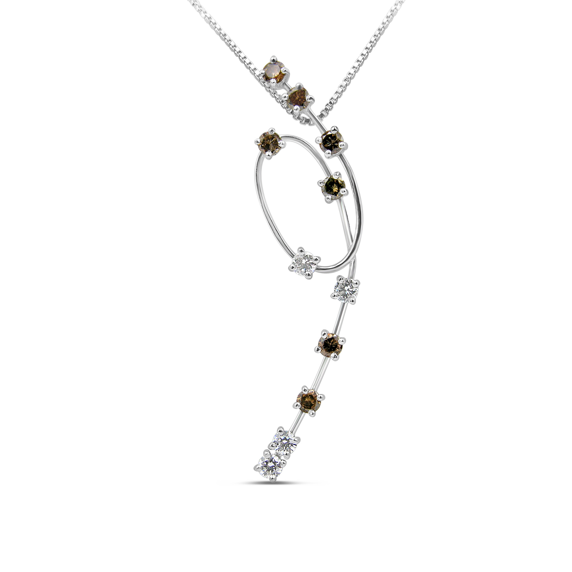 18kt white gold pendant with 0.56 ct diamonds
