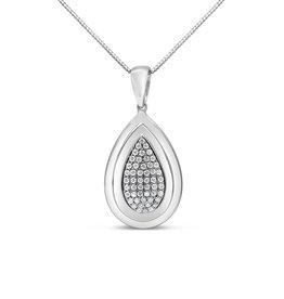 18kt wit goud hanger met 0.50 ct diamanten