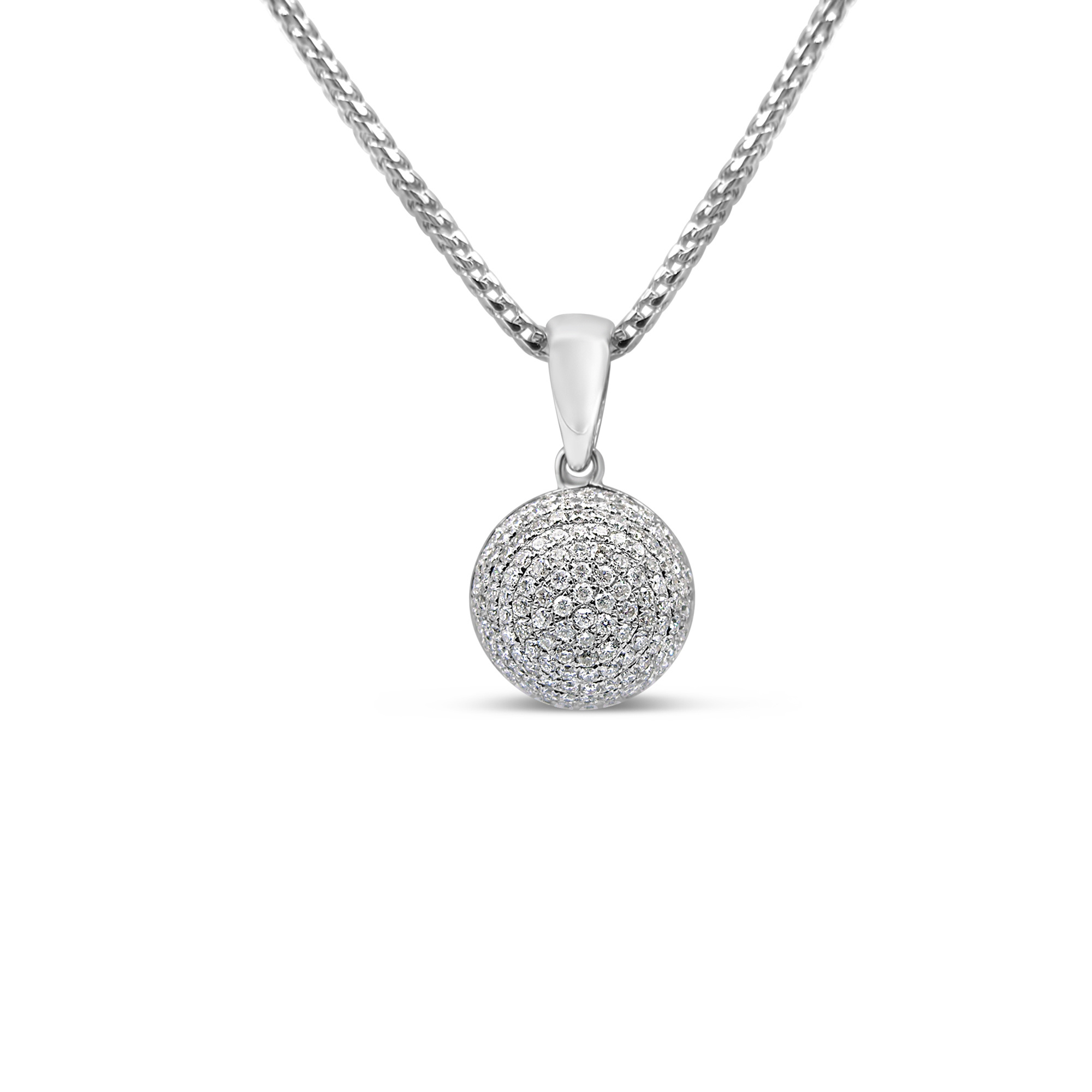 18kt white gold pendant with 0.55 ct diamonds