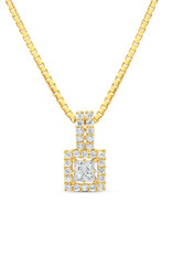 18kt yellow gold pendant with 0.32 ct diamonds