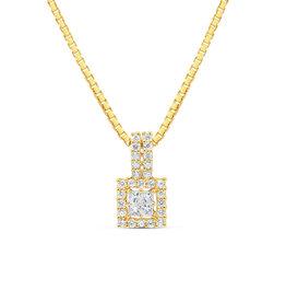 18kt geel goud hanger met 0.32 ct diamanten