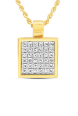 18kt yellow & white gold pendant with 1.06 ct diamonds
