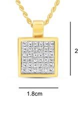 18kt geel  & wit goud hanger met 1.06 ct diamanten