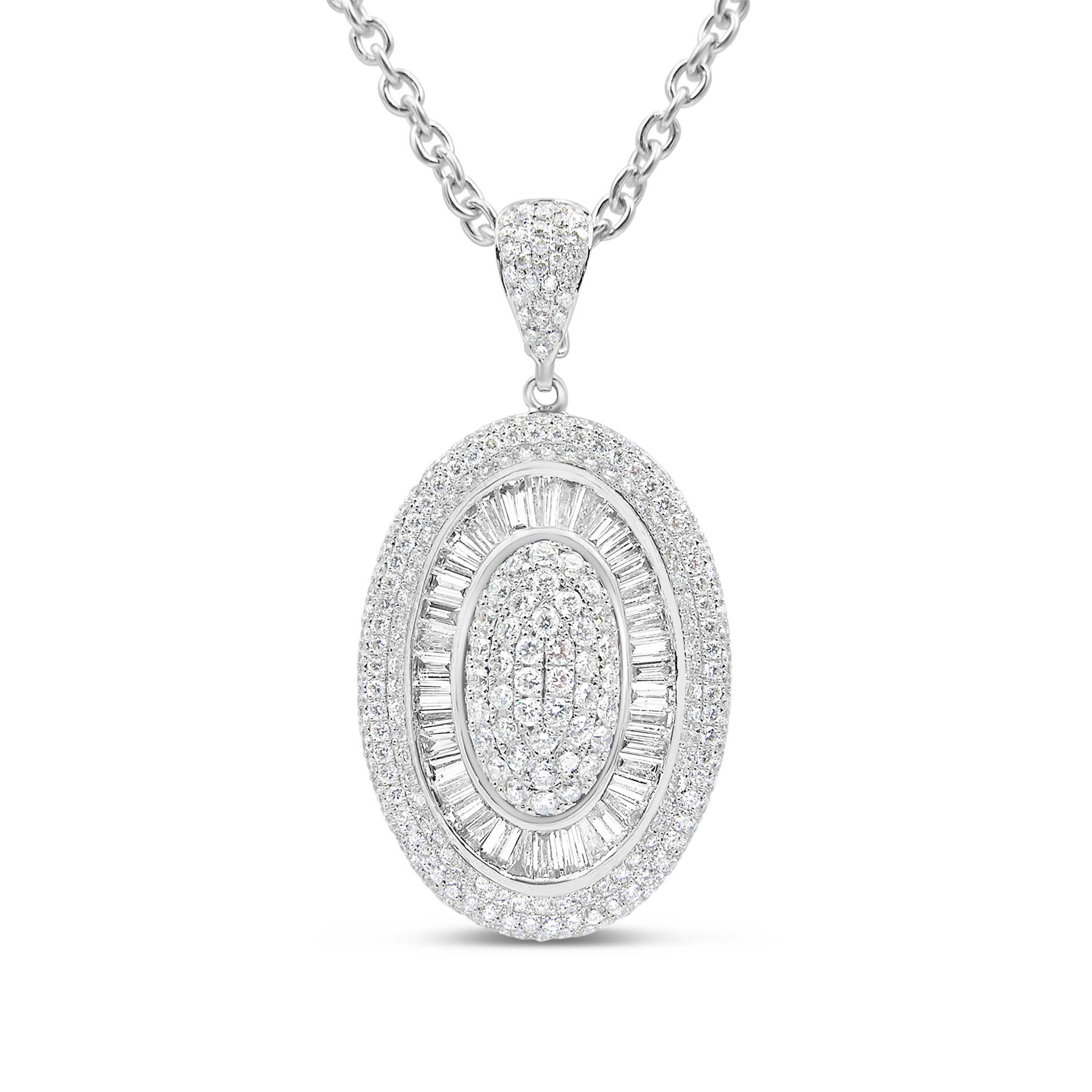 18kt wit goud hanger met 2.70 ct diamanten