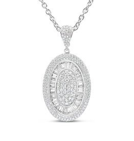 18kt white gold pendant with 2.70 ct diamonds