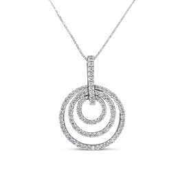 18kt white gold pendant with 0.71 ct diamonds