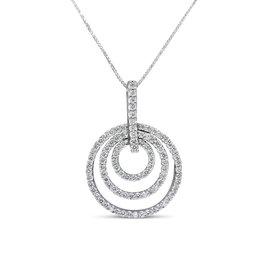 18kt wit goud hanger met 0.71 ct diamanten