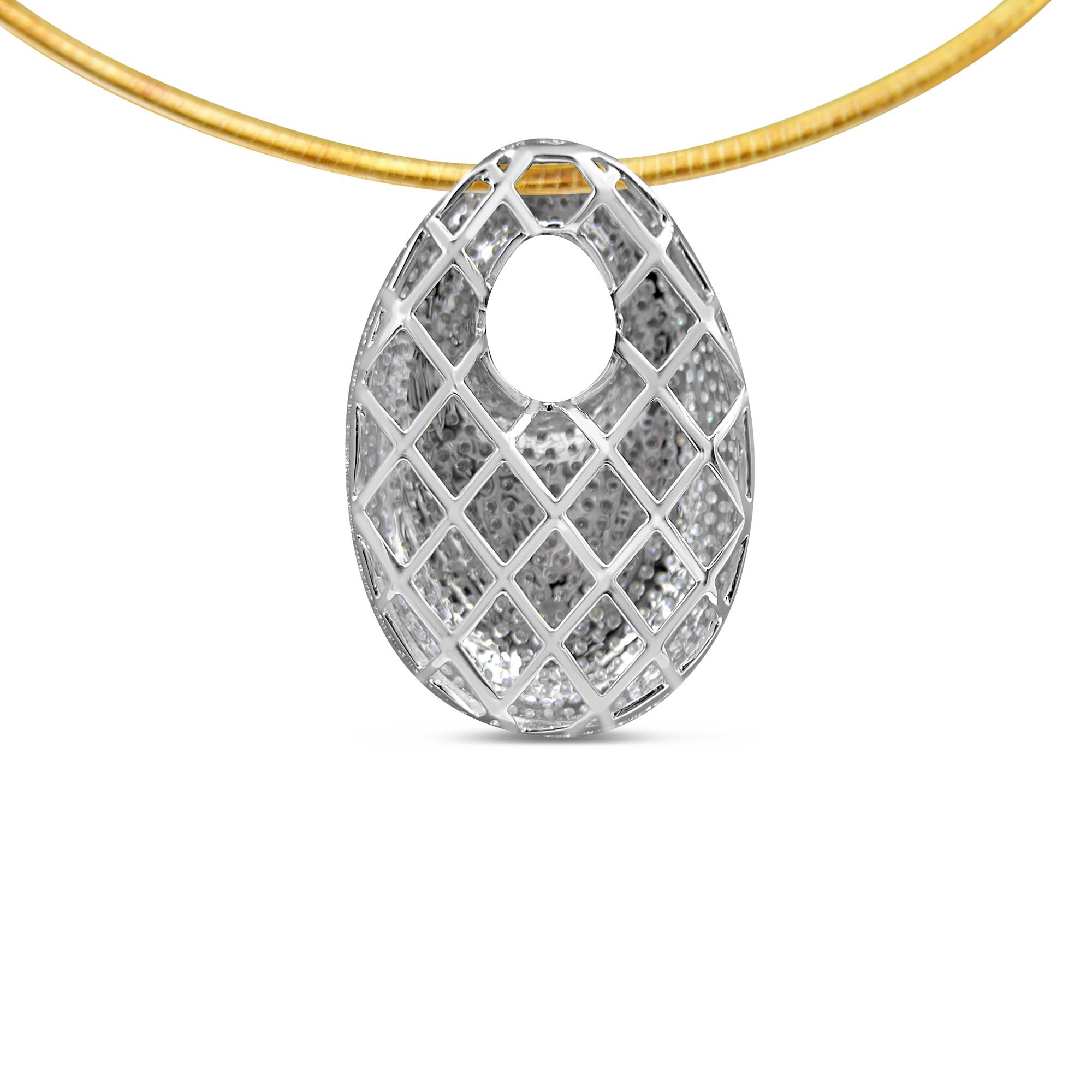 18kt wit goud hanger met 2.99 ct diamanten