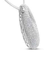 18kt white gold pendant with 2.99 ct diamonds