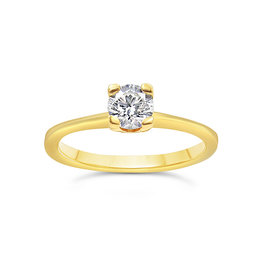 18kt  geel goud verlovingsring met 0.53 ct diamant
