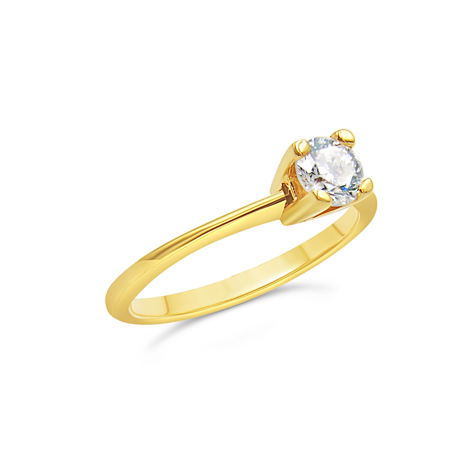 18kt yellow gold engagement ring with 0.53 ct diamond