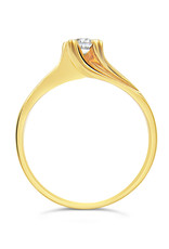 18kt yellow gold engagement ring with 0.23 ct diamond