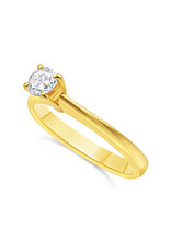 18kt geel goud verlovingsring met 0.30 ct diamant