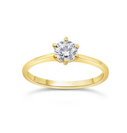 14kt yellow gold engagement ring with 0.50 ct diamond