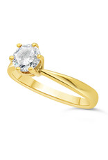 18kt yellow gold engagement ring with 0.61 ct diamond