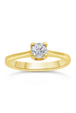 18kt yellow gold engagement ring with 0.47 ct diamond